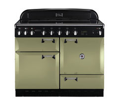 RANGEMASTER Elan 110 Induction Range Cooker - Olive Green & Chrome