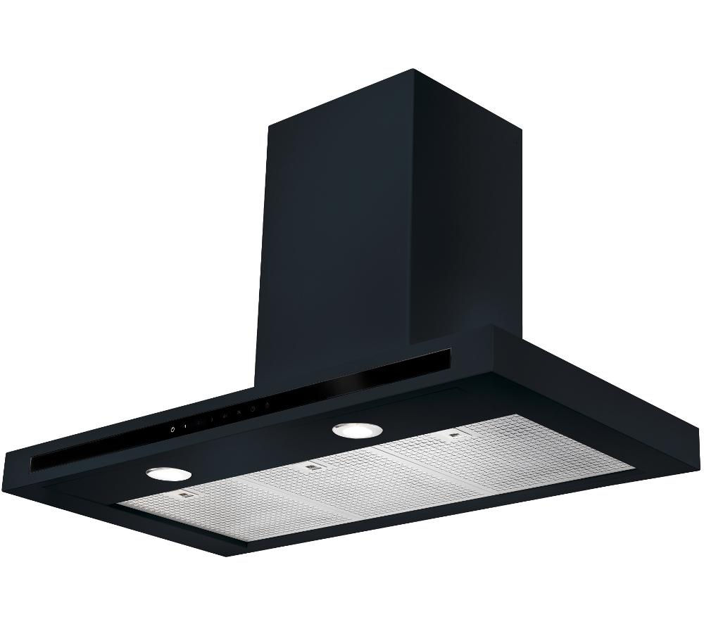 RANGEMASTER Hi-LITE 110 Chimney Cooker Hood - Black