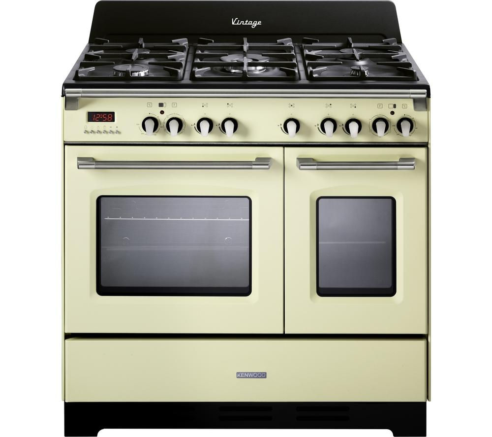 buy kenwood ck425 cr 90 cm dual fuel range cooker cream. Black Bedroom Furniture Sets. Home Design Ideas