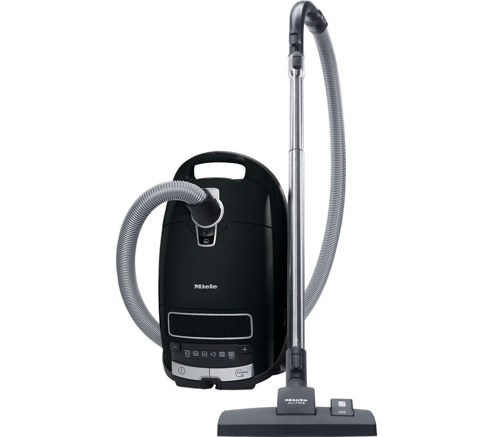 MIELE Complete C3 Extreme PowerLine Cylinder Vacuum Cleaner - Black + SBB 300-3 Parquet Twister Brush
