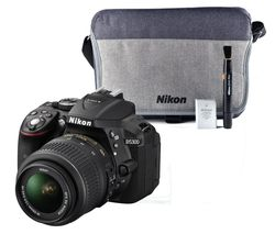 NIKON D5300 DSLR Camera with 18-55 mm f/3.5-5.6G VR Lens, Remote & Batteries