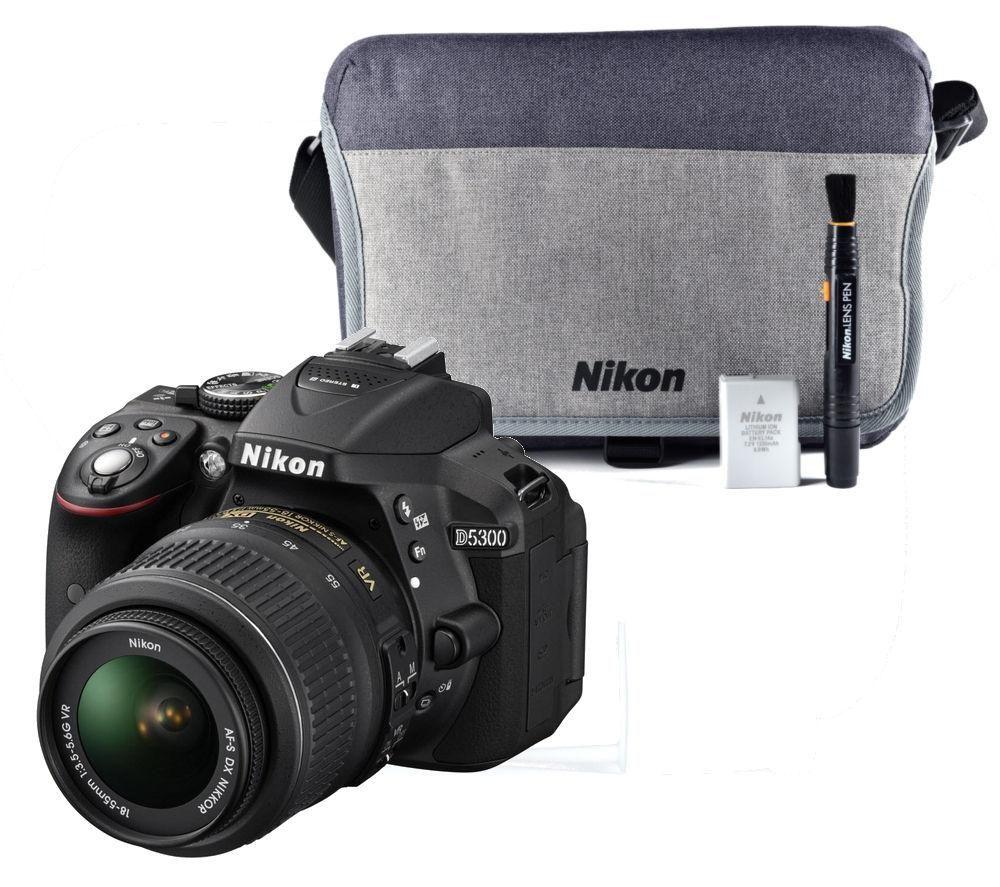 NIKON D5300 DSLR Camera, Zoom Lens & Accessory Kit Bundle