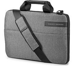 "HP Signature Slim Topload 14"" Laptop Messenger Bag - Grey"