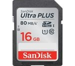 SANDISK Ultra Plus Class 10 SD Memory Card - 16 GB