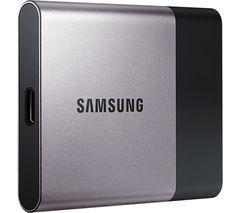 SAMSUNG T3 External SSD - 1 TB, Silver
