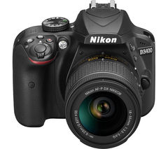 NIKON D3400 DSLR Camera with DX 18-55 mm f/3.5-5.6G Lens