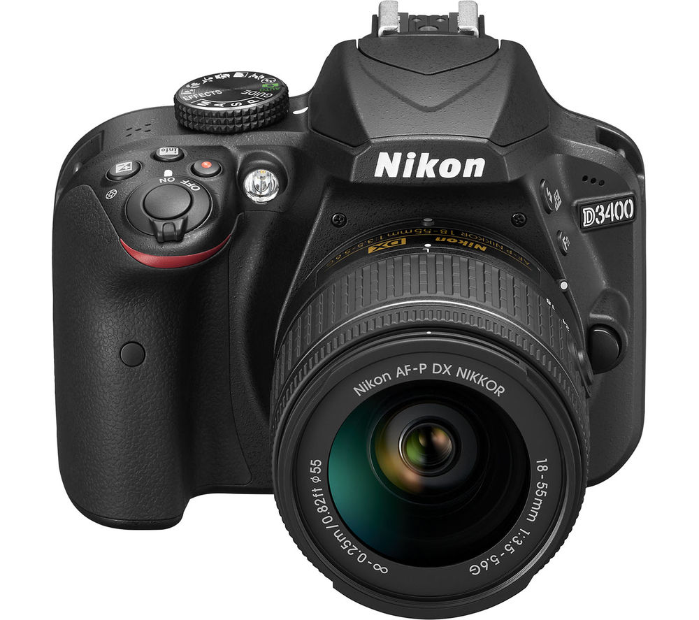 Buy NIKON D3400 DSLR Camera with 18-55 mm f/3.5-5.6 Lens - Black ...