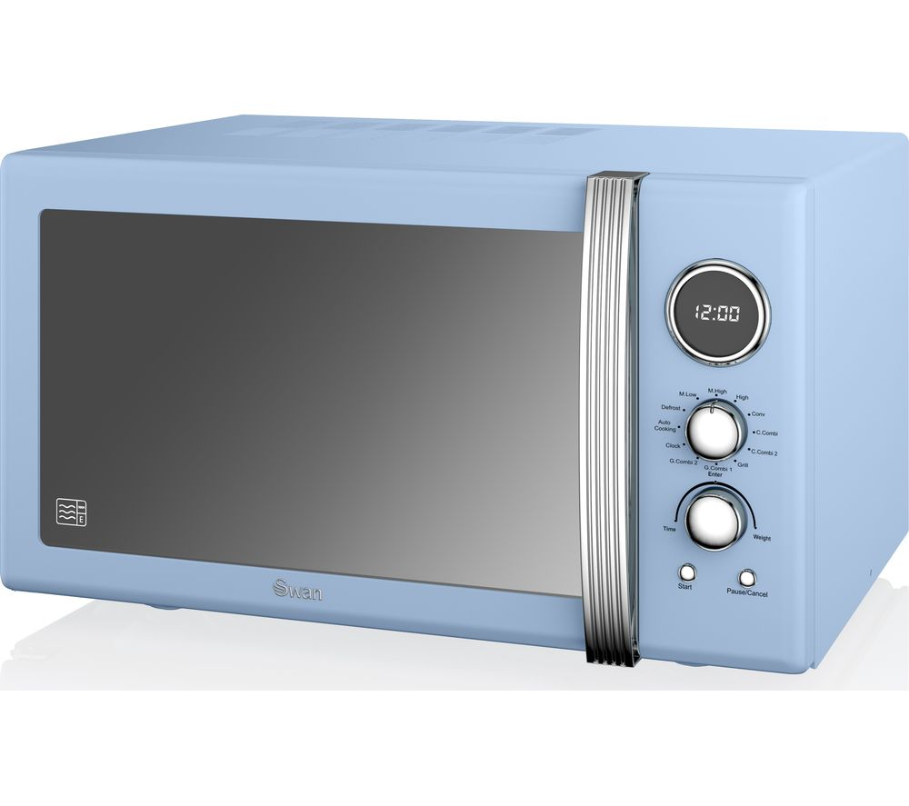 Image of SWAN SM22080BLN Microwave with Grill - Blue, Blue