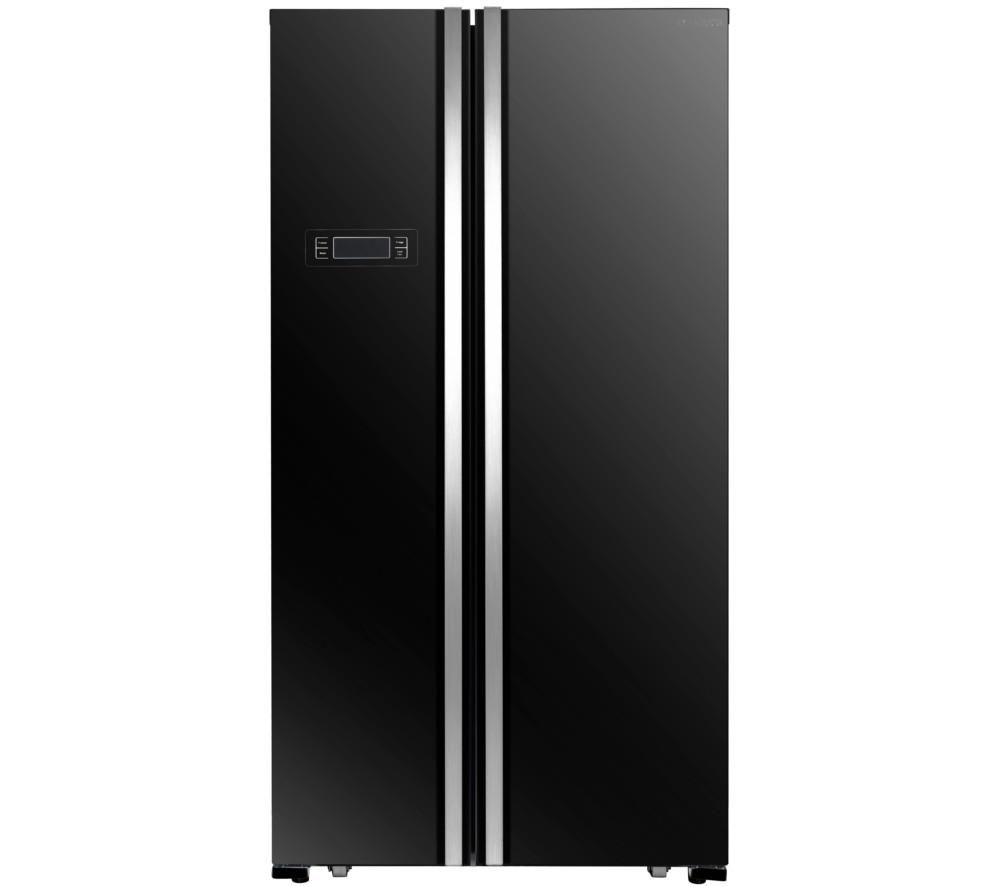 KENWOOD American-Style Fridge Freezer Black KSBSB17, Black