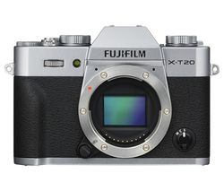 FUJIFILM X-T20 Mirrorless Camera - Silver, Body Only