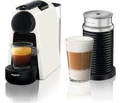NESPRESSO by Magimix Essenza Mini Coffee Machine with Aeroccino - White