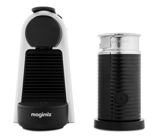 By Magimix Essenza Mini Coffee Machine With Aeroccino White
