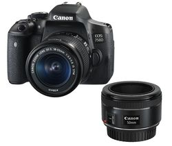 CANON EOS 750D DSLR Camera with EF-S 18-55 mm f/3.5-5.6 IS STM & 50 mm f/1.8 STM Lens