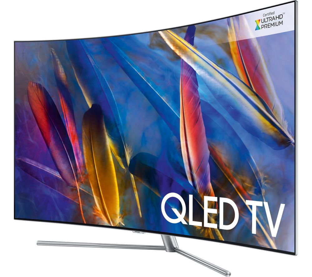 "SAMSUNG QE49Q7CAMT 49"" Smart 4K Ultra HD HDR Curved QLED TV + S1HDM315 HDMI Cable with Ethernet - 1 m"