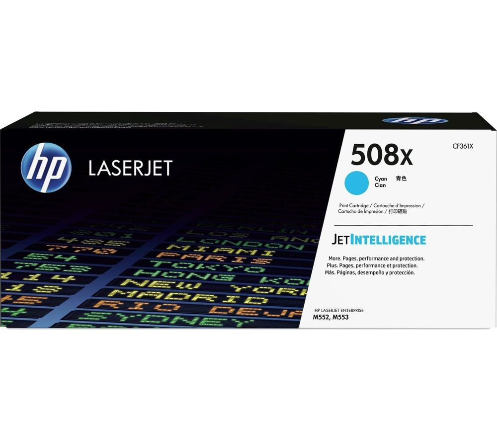 HP 508X High Yield Original LaserJet Cyan Toner Cartridge