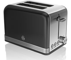 SWAN ST19010BN2-Slice Toaster - Black
