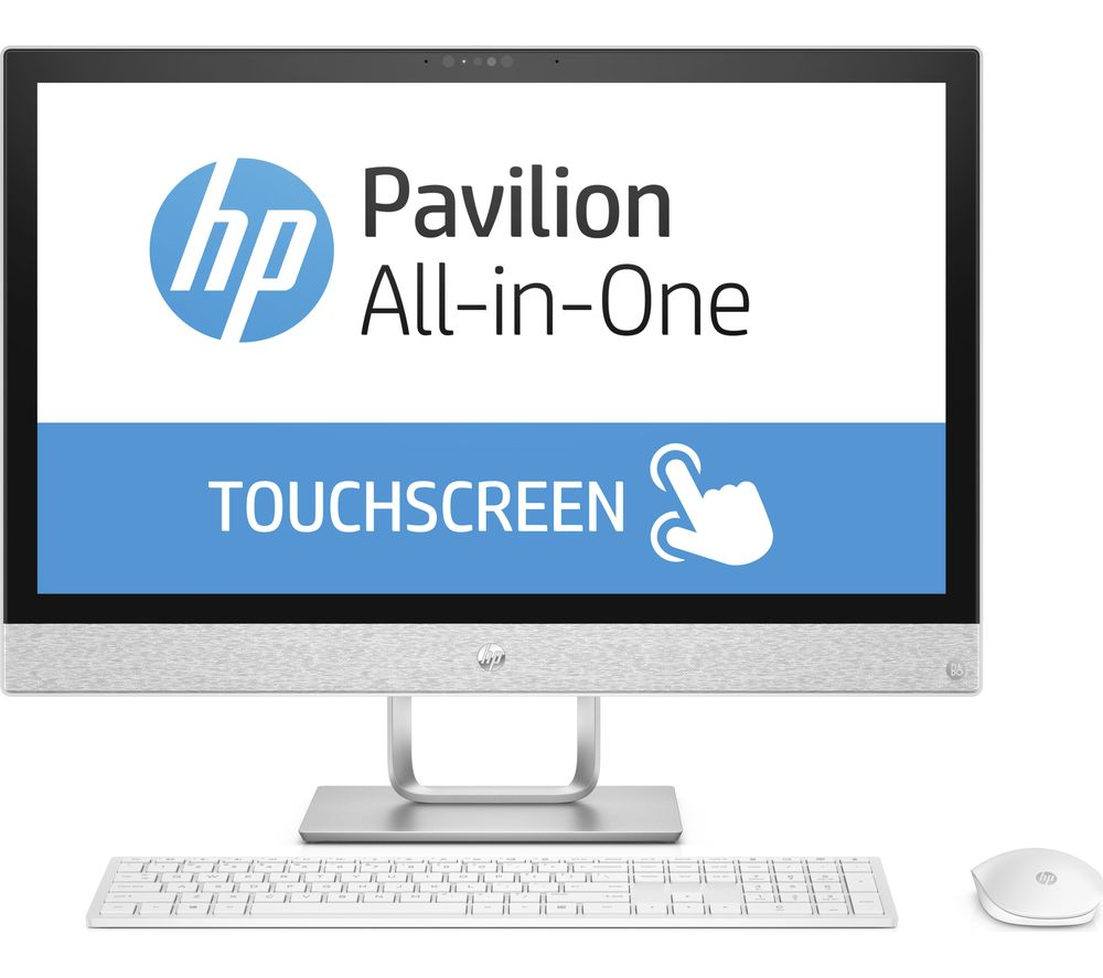 Buy HP Pavilion 24-r012na Touchscreen All-in-One PC - Blizzard White ...