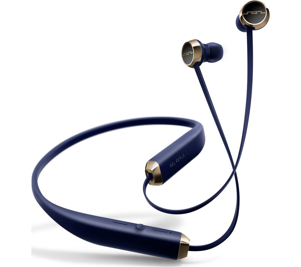 Image of SOL REPUBLIC Shadow Wireless Bluetooth Headphones - Navy, Navy