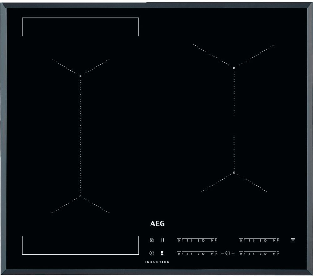Image of AEG IKE64441FB Electric Induction Hob - Black, Black