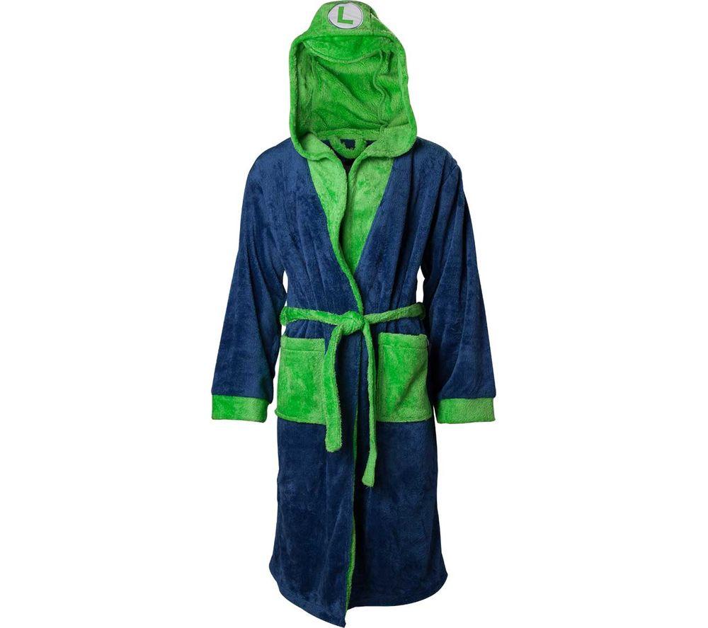 NINTENDO Luigi Dressing Gown - XS - M, Green & Blue