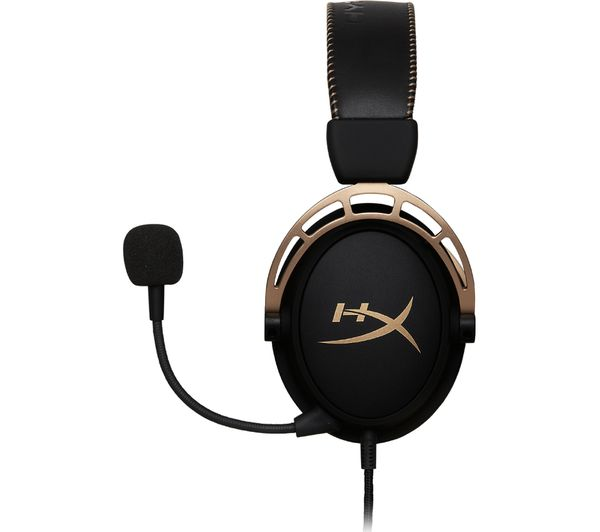 Hyperx Cloud Alpha Gaming Headset Black Amp Gold Deals