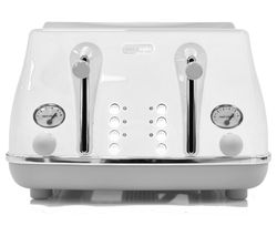 DELONGHI Icona Capitals CTOC4003.W 4-Slice Toaster - White