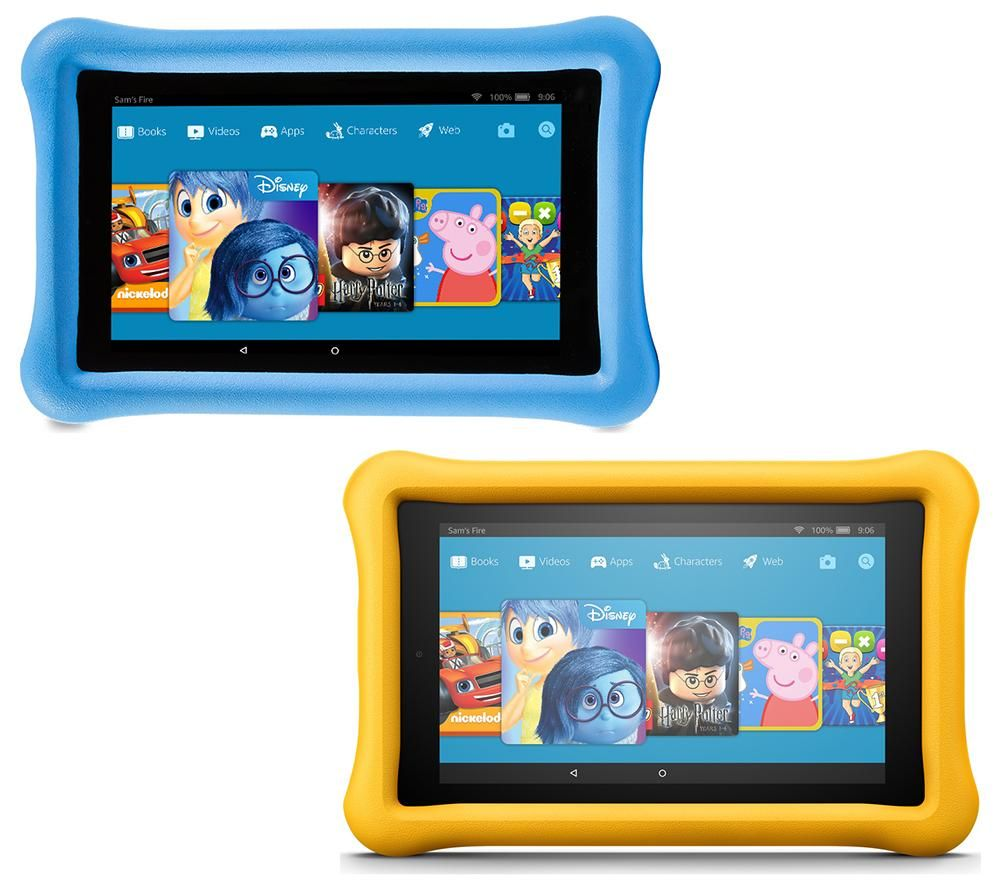 AMAZON Fire 7 Kids Edition Tablets Bundle - 16 GB, Blue & Yellow