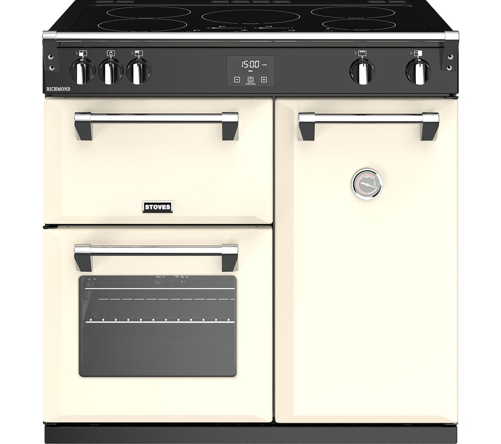 STOVES Richmond 900Ei 90 cm Electric Induction Range Cooker - Cream, Cream