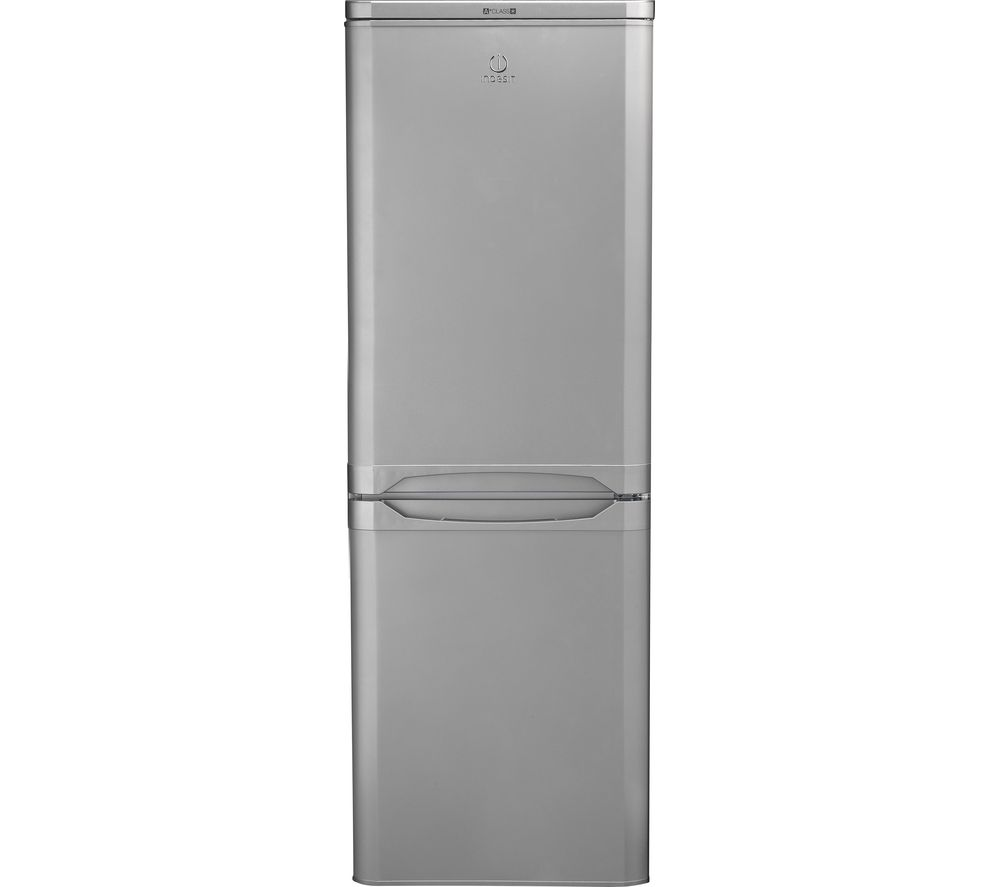 INDESIT IBD5515S 50/50 Fridge Freezer - Silver, Silver