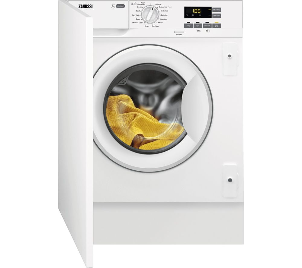 Buy ZANUSSI Z714W43BI Integrated 7 kg 1400 Spin Washing