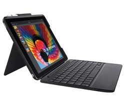 "LOGITECH Slim Combo 9.7"" iPad Case & Keyboard - Black"
