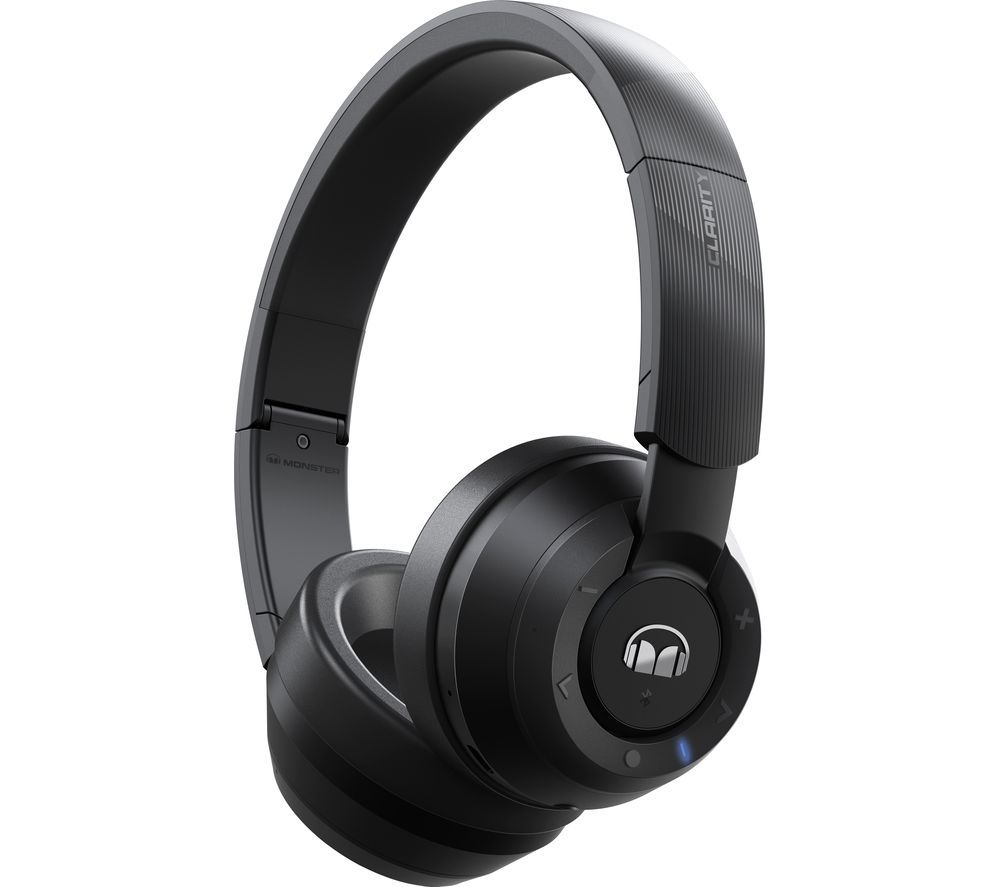 Image of MONSTER Clarity 200 Wireless Bluetooth Headphones - Black, Black