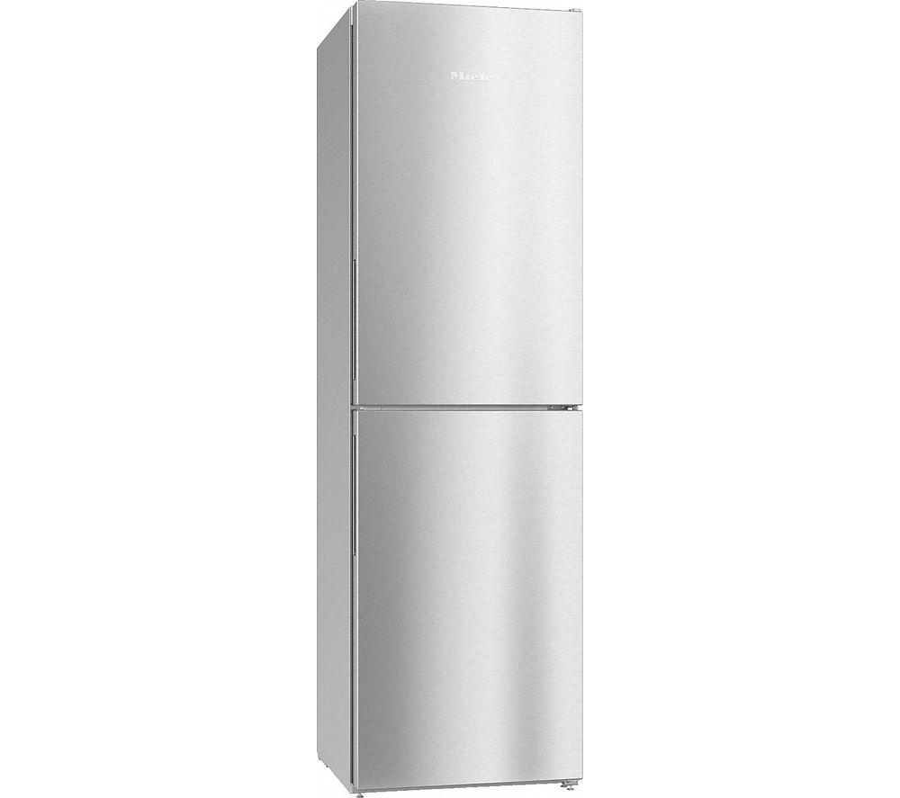 MIELE KFN 29142 D clst 50/50 Fridge Freezer - Clear Steel, Cream
