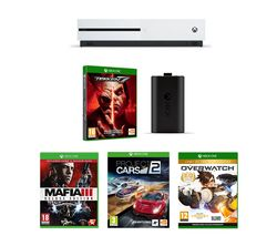 MICROSOFT Xbox One 1 TB, Tekken 7, Mafia III, Overwatch, Project Cars 2 & Charging Kit Bundle