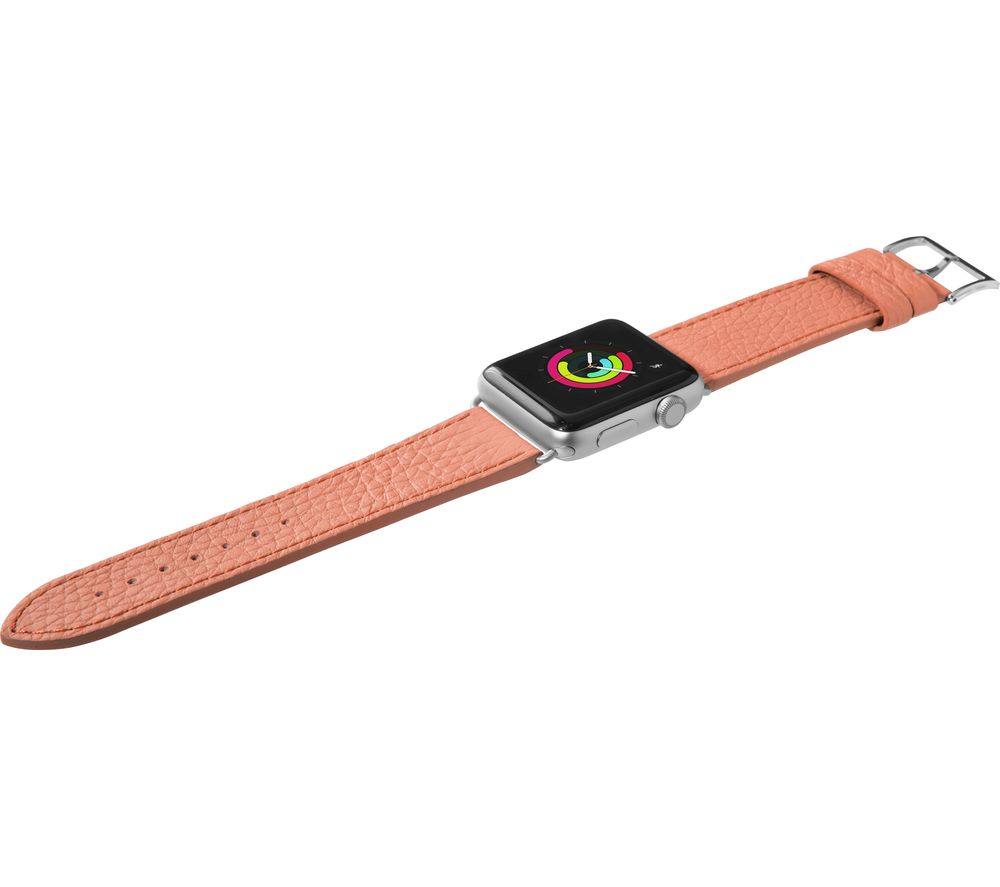 Image of LAUT Apple Watch 38 / 40 mm Milano Leather Loop Strap - Coral, Small, Coral