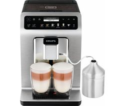 KRUPS Evidence Plus EA894T40 Bean to Cup Coffee Machine - Titanium Best Price, Cheapest Prices