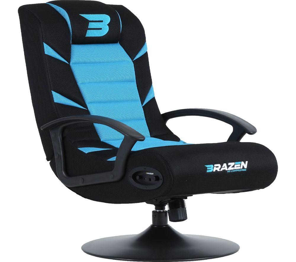 BRAZEN Pride 2.1 Wireless Bluetooth Gaming Chair - Blue & Black