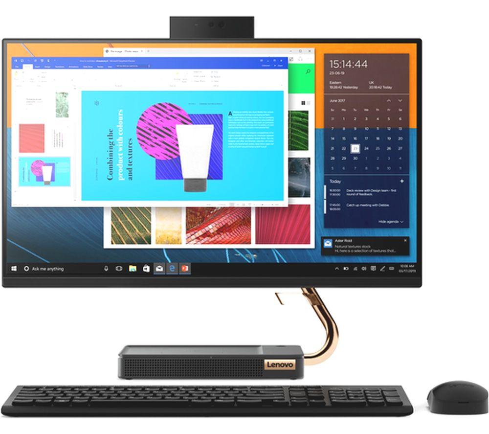 "LENOVO IdeaCentre A540-24ICB 23.8"" Intel® Core™ i7 All-in-One PC - 2 TB HDD & 256 GB SSD, Black"