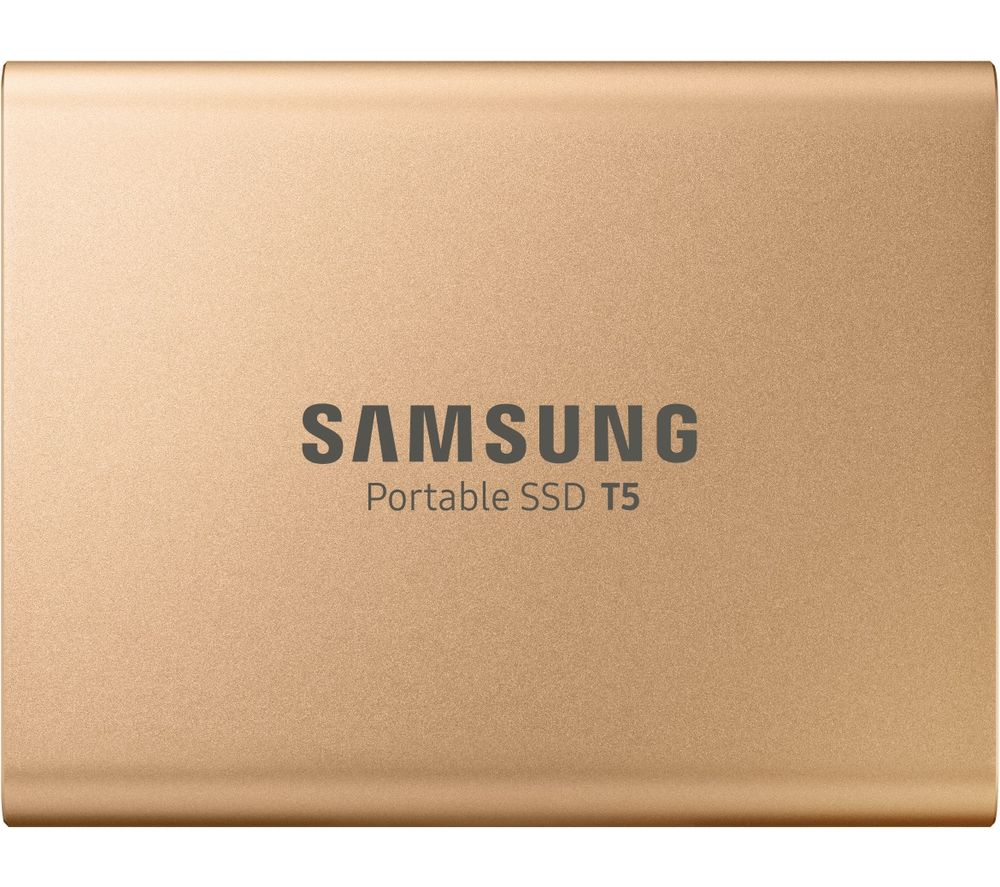 Image of Samsung Portable T5 External SSD hard drive 500 GB Rose Gold USB-C™ USB 3.1