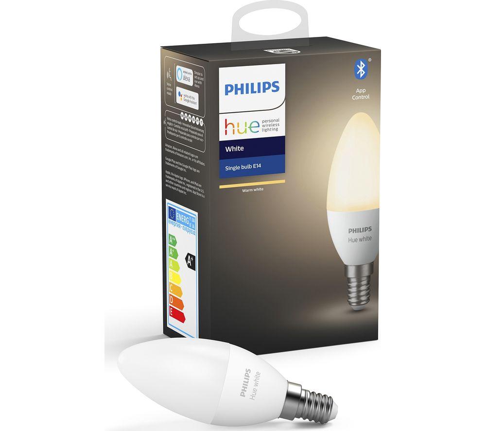 PHILIPS HUE White Bluetooth LED Bulb - Candle, E14