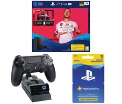 SONY Playstation 4 Pro, FIFA 20, Docking Station & Playstation Plus Bundle - 1 TB
