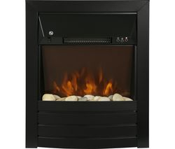 ZEFIST1003B Wall Mounted Electric Fireplace - Black