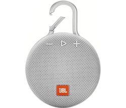 JBL Clip 3 CLIP3WHT Portable Bluetooth Speaker - White