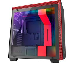NZXT H700i CA-H700W-BR E-ATX Mid-Tower PC Case - Red