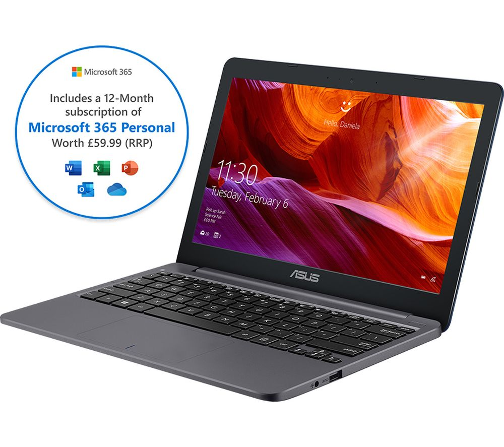 "ASUS E203MA 11.6"" Laptop - Intel® Celeron™, 64 GB eMMC, Grey"