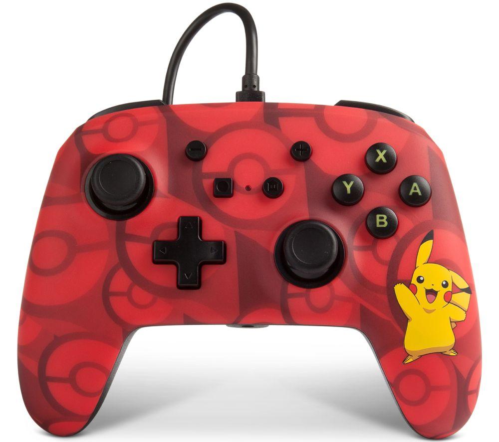 POWERA Nintendo Switch Wired Controller – Red & Black Pikachu