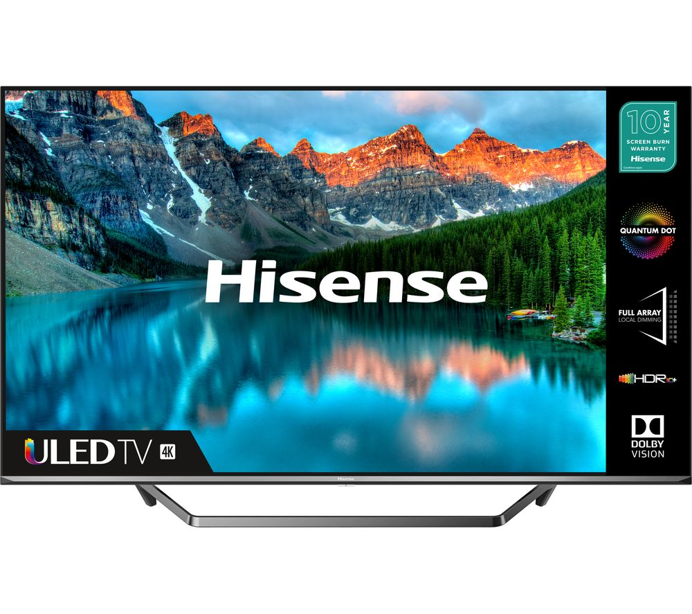 50-ö HISENSE 50U7QFTUK  Smart 4K Ultra HD HDR QLED TV with Amazon Alexa