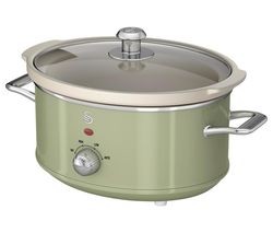 SWAN Retro SF17021GN Slow Cooker - Green Best Price, Cheapest Prices