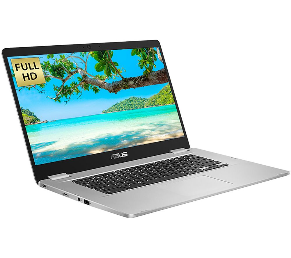 "ASUS C523 15.6"" Chromebook - Intel® Celeron™, 64 GB eMMC, Silver"
