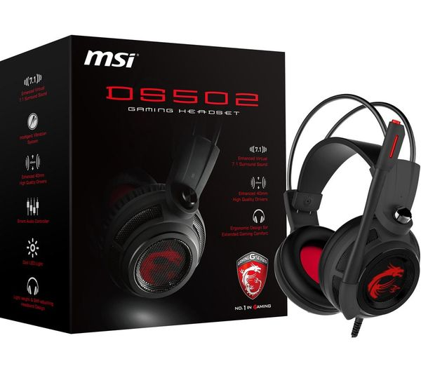 DS502 7.1 Gaming Headset Black